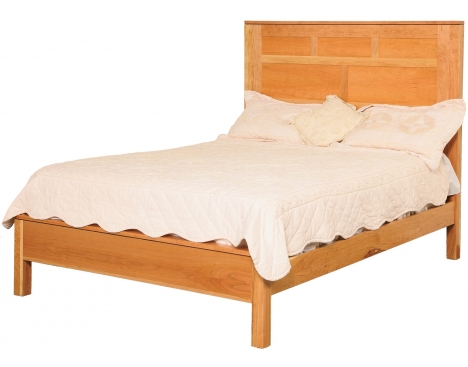 Modern Queen Panel Bed w/ Low Footboard Image