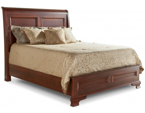 Classic Queen Sleigh Bed W Low Footboard Daniel S Amish