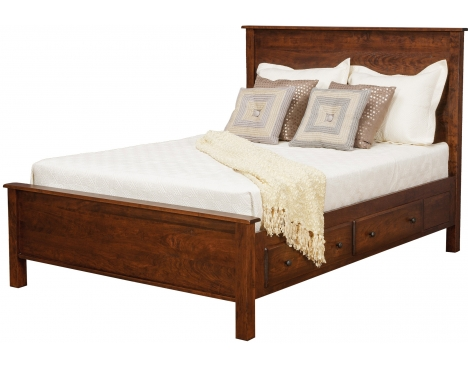 "Lewiston Queen Panel Supreme Bed w/ 2 30"" Drawers per Side Image"