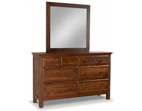 Lewiston 8-Drawer Double Dresser w/ Tall Medium Mirror Image