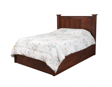 Treasure Queen Pedestal Bed w/ 60 Wide Drawers Image
