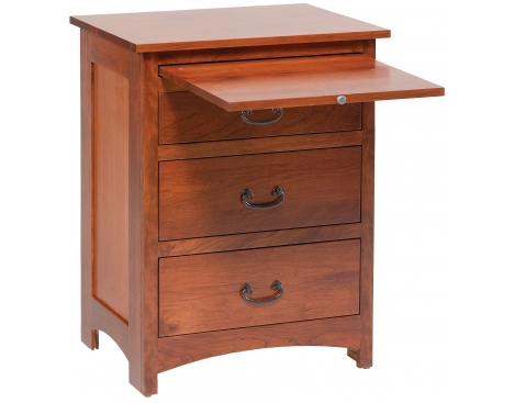 Treasure 3-Drawer Nightstand w/ Pullout Shelf Image