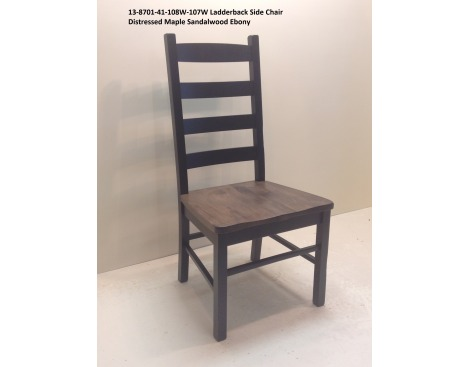 Ladder Back Side Chair 13-8701-41-108W-107W Image