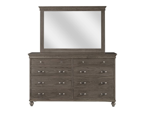 Cottage 8 Drawer Double Dresser with Tall Wide Mirror Image