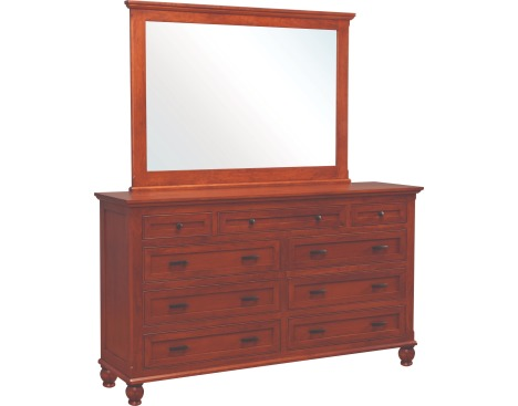 Regal 9-Drawer Double Dresser with Tall Wide Mirror Image