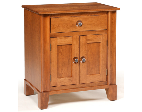 Cosmopolitan 1-Drawer 2-Door Nightstand